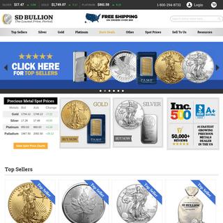 Buy Gold Silver Bullion & Coins Online I Lowest Price- SD Bullion