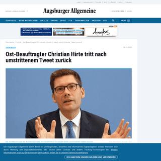 Thüringen- Ost-Beauftragter Christian Hirte tritt nach umstrittenem Tweet zurück - Politik - Aktuelle Politik-Nachrichten - Au