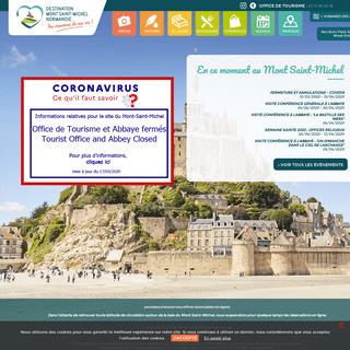 Site Officiel de l'Office de Tourisme du Mont Saint-Michel