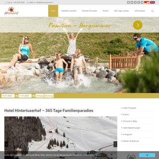 Hotel Hintertuxerhof am Fuß des Hintertuxer Gletschers in Tirol