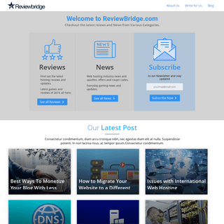 ReviewBridge.com- A Review, Comparion & News Site