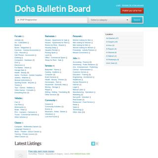 Doha Bulletin Board