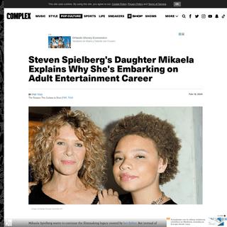 ArchiveBay.com - www.complex.com/pop-culture/2020/02/steven-spielbergs-daughter-mikaela-adult-entertainment-career - Steven Spielberg's Daughter Explains Why She's Embarking on Adult Entertainment Career - Complex