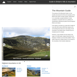 ArchiveBay.com - themountainguide.co.uk - Mountains of the British Isles - UK hills & mountain Guide