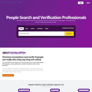 Reverse Lookup to Search and Verify Identities - Social Catfish
