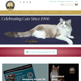 The Cat Fanciers' Association, Inc – World's Largest Registry of Pedigreed Cats