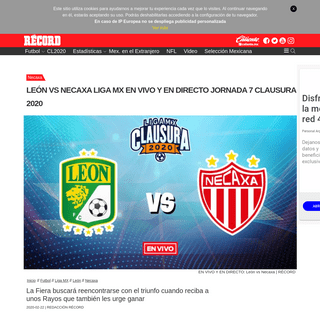 ArchiveBay.com - www.record.com.mx/futbol-liga-mx-leon-necaxa/leon-vs-necaxa-liga-mx-en-vivo-y-en-directo-jornada-7-clausura-2020 - León vs Necaxa Liga MX en vivo y en directo Jornada 7 Clausura 2020 - RÉCORD