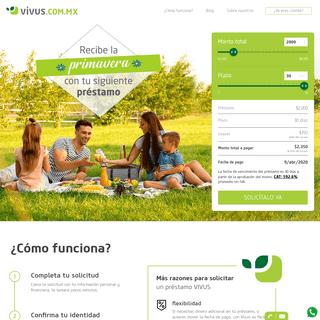 Préstamos personales inmediatos en línea - Vivus México