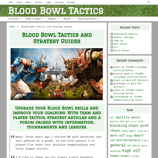 Blood Bowl Tactics