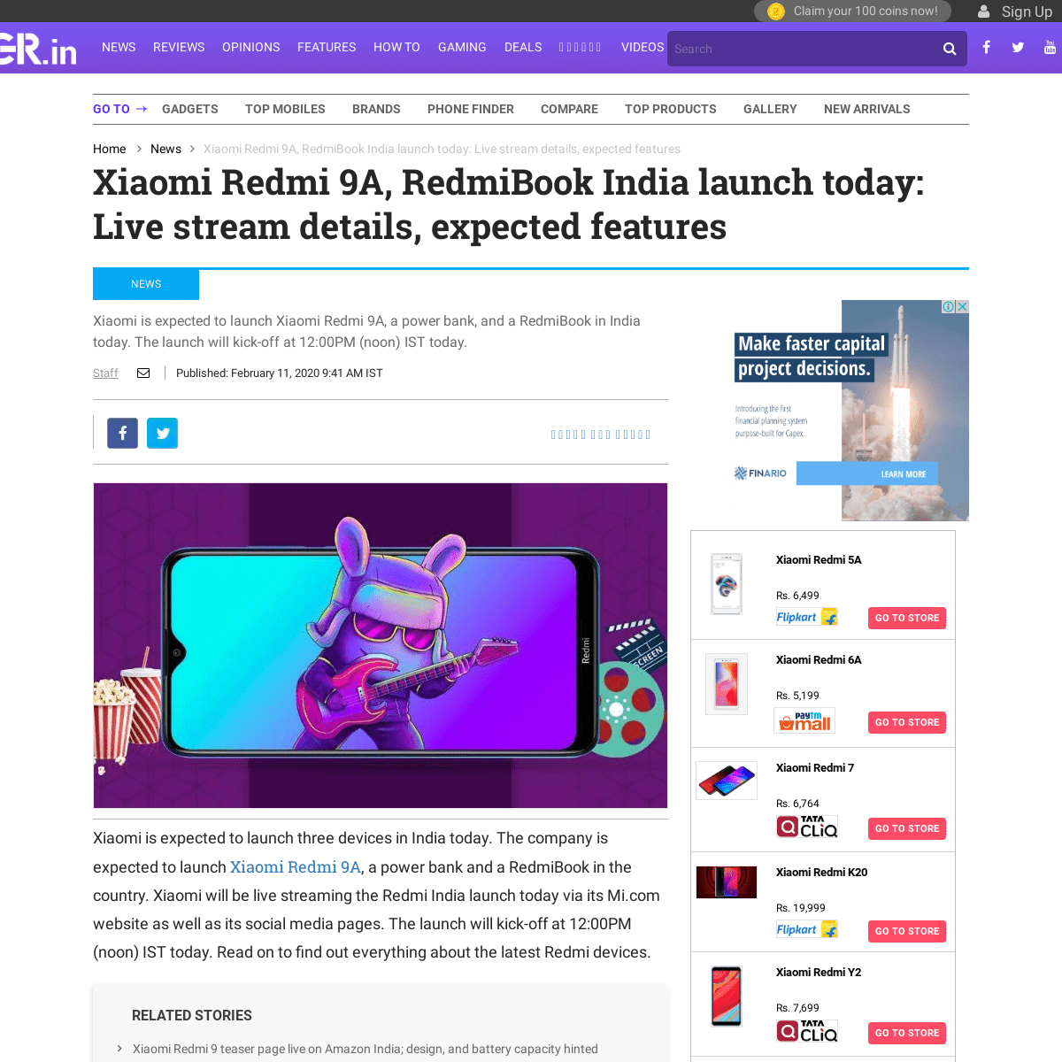 ArchiveBay.com - www.bgr.in/news/xiaomi-redmi-9a-redmibook-power-bank-india-launch-today-live-stream-details-confirmed-features-875055/ - Xiaomi Redmi 9A India launch today- Live stream details, confirmed specs