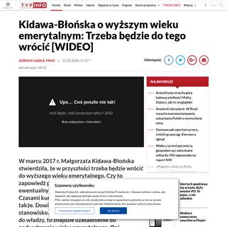 Kidawa-Błońska chce podwyższenia wieku emerytalnego wieszwiecej - tvp.info