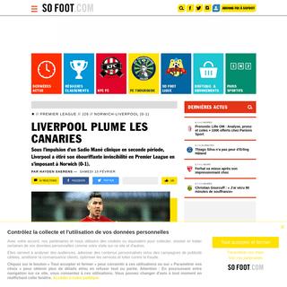 Liverpool plume les Canaries - Premier League - J26 - Norwich-Liverpool (0-1) - SOFOOT.com