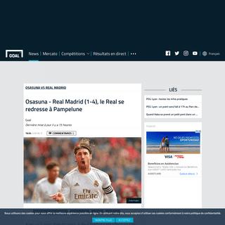 Osasuna - Real Madrid (1-4), le Real se redresse à Pampelune - Goal.com