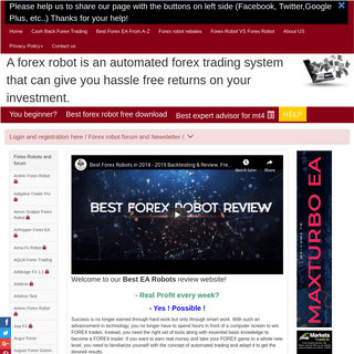 ArchiveBay.com - bestearobots.com - This is a Best Forex Robots Review site! Live Automated forex trading