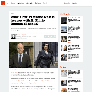 ArchiveBay.com - inews.co.uk/news/explainer-priti-patel-sir-philip-rutnam-resigns-home-office-2004749 - Who is Priti Patel and what is her row with Sir Philip Rutnam all about- - inews
