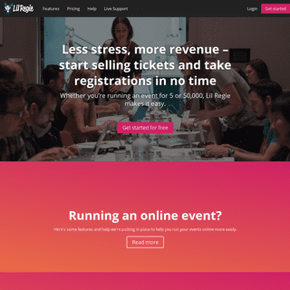 Lil Regie - Create your own event and sell tickets online