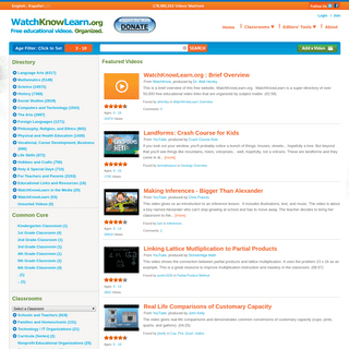 WatchKnowLearn - Free Educational Videos for K-12 Students