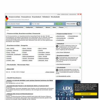 Firmen- & Gewerbeverzeichnis - Firmenadressen mit Branchenbuch