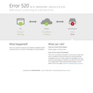 filmycatalog.com - 520- Web server is returning an unknown error