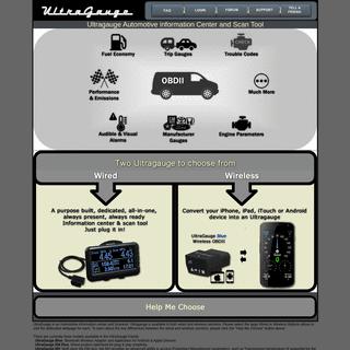 UltraGauge OBDII Scan tool & Information Center