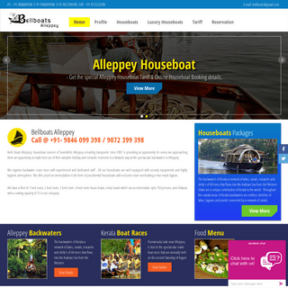 Book Houseboat Backwater Tour Packages in Alleppey - BellBoats Alleppey
