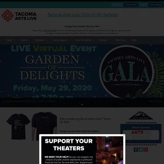 Energizing community through live performance - Tacoma Arts Live