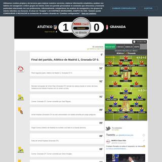 Atlético de Madrid vs Granada CF en vivo minuto a minuto - La Liga Española 2019