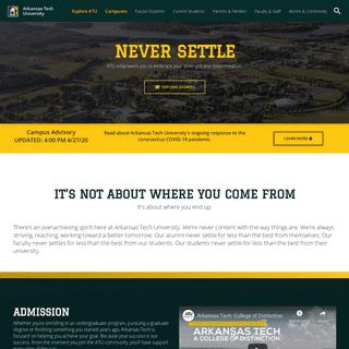 Arkansas Tech University's Homepage - Arkansas Tech University