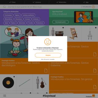 #Soyvisual es un Sistema de Comunicación Aumentativa de Fundación Orange
