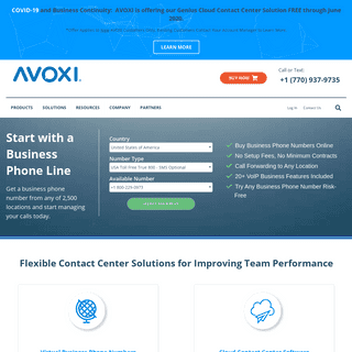 AVOXI® Cloud Contact Center Solutions - Global Virtual Numbers