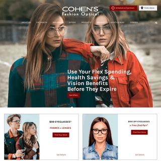 Largest Selection of Designer Frames - Cohen's Fashion Optical