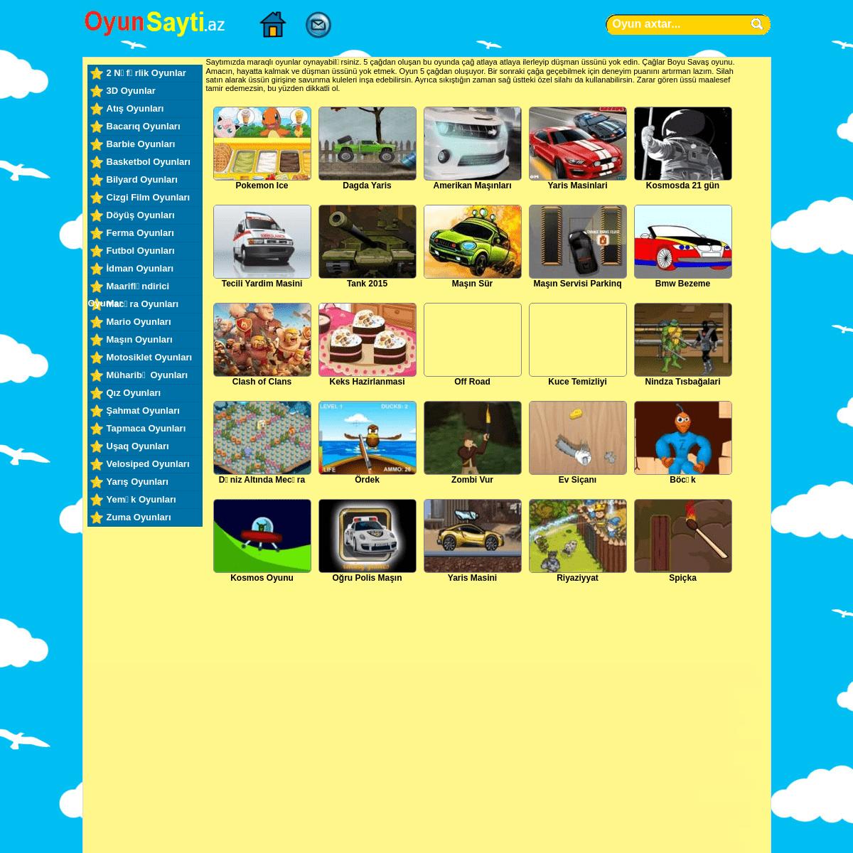 Oyna masin oyunu Araba Oyunları