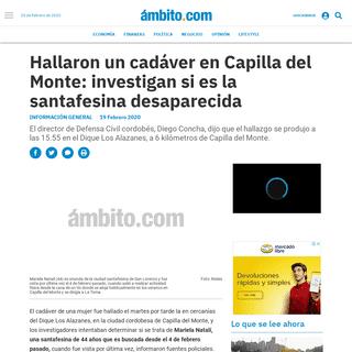 Hallaron un cadáver en Capilla del Monte- investigan si es la santafesina desaparecida - Femicidios, Córdoba, desaparecidas