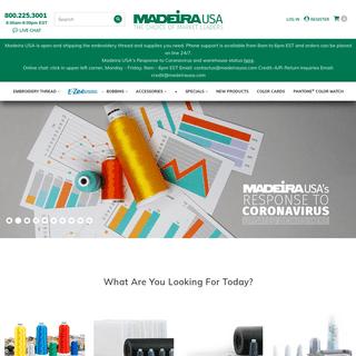 Madeira USA - High Quality Machine Embroidery Thread and Supplies