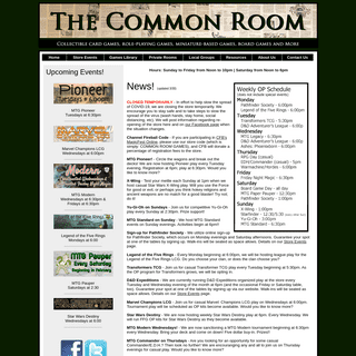 Common Room Games - Bloomington - CCGs, RPGs, & Miniatures - The Gamer's Game Store