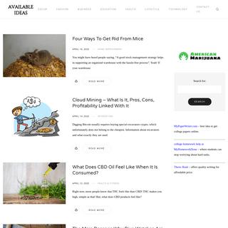 Available Ideas -