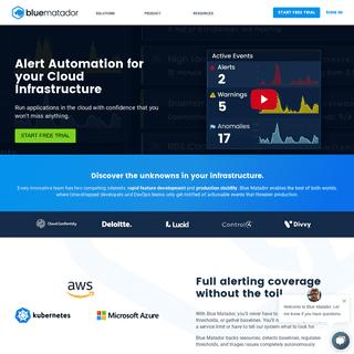 Blue Matador - Alert Automation for your Cloud Infrastructure