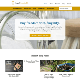 Frugally Sustainable - A Resource for All Things Frugal and Sustainable