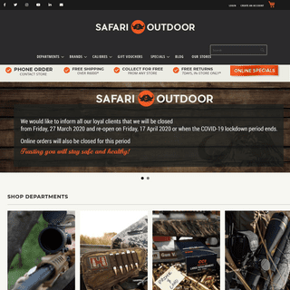 SAFARI OUTDOOR - South Africa's biggest hunting, outdoor and gun shop
