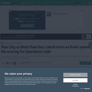 ArchiveBay.com - www.football.london/west-ham-united-fc/man-city-vs-west-ham-17775717 - Man City vs West Ham live- Latest score as Rodri opens the scoring for Guardiola's side - football.london