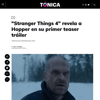 -Stranger Things 4- revela a Hopper en su primer teaser tráiler - Tónica