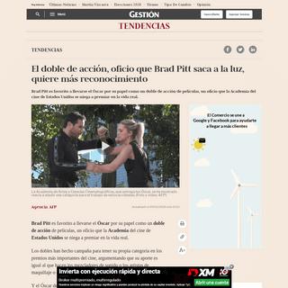 El doble de acción, oficio que Brad Pitt saca a la luz, quiere más reconocimiento nndc - Tendencias - Gestión