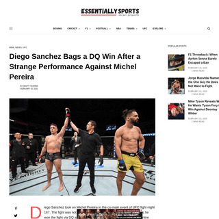 ArchiveBay.com - www.essentiallysports.com/ufc-diego-sanchez-bags-a-dq-win-after-a-strange-performance-against-michel-pereira/ - Diego Sanchez Bags a DQ Win After a Strange Performance Against Michel Pereira - EssentiallySports