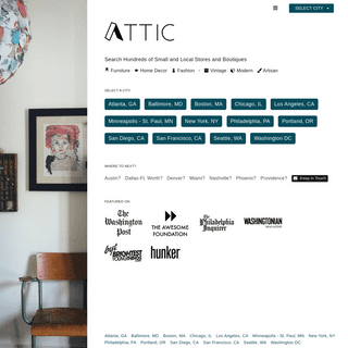 ATTIC- Vintage and Artisan Products from Local, Small, Independent Stores - ATTIC
