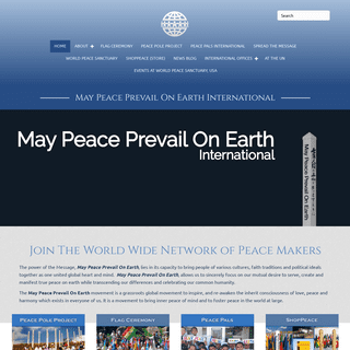 May Peace Prevail On Earth Home - May Peace Prevail On Earth International