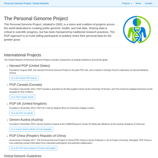 Personal Genome Projects- Global Network