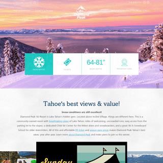 Welcome to Diamond Peak - Diamond Peak Ski Resort