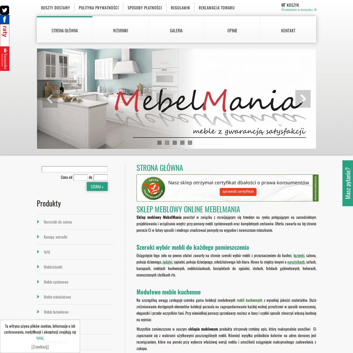 ArchiveBay.com - mebelmania.com.pl - Meble kuchenne na wymiar, narożniki rozkładane do salonu - MebelMania