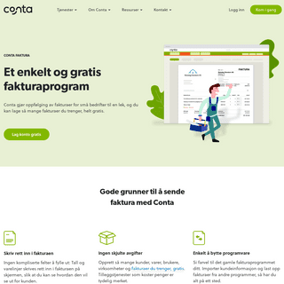 Lag faktura gratis - Fakturaprogram på nett - Conta.no