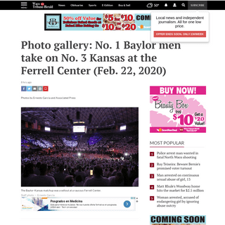 ArchiveBay.com - www.wacotrib.com/gallery/sports/baylor_sports/photo-gallery-no-baylor-men-take-on-no-kansas-at/collection_5e84fd6e-6568-5935-876a-b67920cac347.html - Photo gallery- No. 1 Baylor men take on No. 3 Kansas at the Ferrell Center (Feb. 22, 2020) - Baylor Sports - wacotrib.com